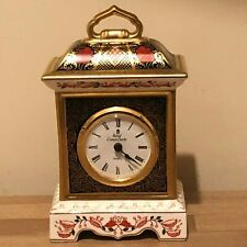 Lovely Royal Crown Derby Old Imari 1128 Scarce Mantel Clock