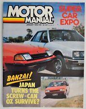 Motor Manual Magazine Jan 1982 Leland Moke,Ford Ranger,Commodore,Skyline,Porsche