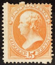 "Us Sc# 163 *Unused H* [ ""Scarce Yellow Orange } 15c Webster Of 1867 Cv$ 1,050.00"