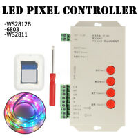5-24V T-1000S SD Card LED Controller Pixel RGB Led Control For WS2811 2801 6803