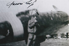 Luigi Gorrini Signed 4x6 Photo Italian Ace WW II 19 Vic CAI Battle of Britain