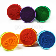 6x Dinosaur Patterned Self Ink Stamper Art Painting Craft Stamp Party Favors Toy