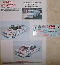 V100 MERCEDES 190E 2,3L 16S RALLYE MONTE CARLO 1990 PIERRE BOS DECALS VIRATE