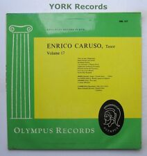 ENRICO CARUSO - Volume 17 - Excellent Condition LP Record Olympus ORL 317