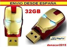 PEN DRIVE PENDRIVE IRON MAN LOS VENGADORES 32GB 32 GB MEMORIA USB(4 8 16 64)!