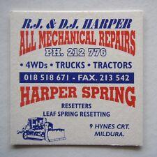 RJ & DJ HARPER ALL MECHANICAL REPAIRS SPRING 9 HAYNES CRT MILDURA 212776 COASTER