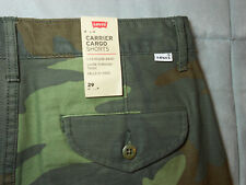 NEW LEVI'S levis size 29 CARGO shorts CAMOUFLAGE LOOSE 100% COTTON men's NWT