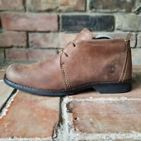 Timberland Earthkeepers Distress Leather Chukka Boots Mens 7.5 Wide Brown 84530