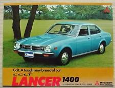 MITSUBISHI COLT LANCER 1400 Car Sales Brochure June 1975 #P331(26) Jun. 75 MG