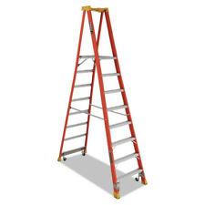 Louisville Fxp1708xl4c Fiberglass Pro 14 Ft Platform Ladder Org New