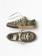 GAP Kids Boys NWT Size US 6 Youth / EU 36 Camo Canvas Lace-Up Sneakers Shoes