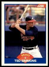 1989 Score Ted Simmons #611