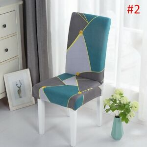 Universal Chair Covers for Dining Room Hotel Stretch Chair Slipcover Geometric