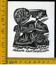 Ex Libris Originale Tranquillo Marangoni b 710 Nerone Santagiuliana