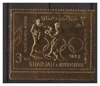 S14611) Sharjah 1968 MNH Olympic Games Mexico Gold Foil 1v