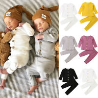Newborn Baby Unisex Clothes Long Sleeve Tops+Pants Cotton Clothes Outfit Set