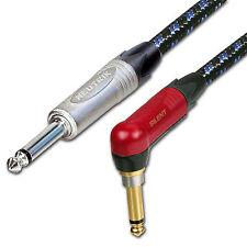 SILENT Neutrik Guitar Jack Lead. Long Vintage Cable. 1m 3m 6m 5m 10m Electric