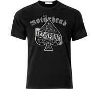 Motorhead Ace Of Spades Inspired Distressed Effect T Shirt Black