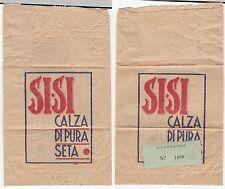 RARA ED ANTICA BUSTA PUBBLICITARIA - SI-SI CALZA DI PURA SETA