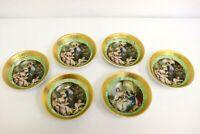 Limoges L'etoile Porcelian Of France 22k Gold Trimmed set of 6 bowls