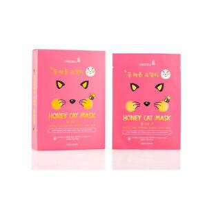 Crecell Honey Cat Mask, 25 ml × 10 Sheets
