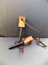 Yew Handle firesteel And Striker, Bushcraft, Survival Fire Steel