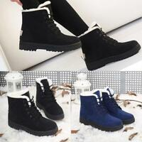 Women Winter Warm Suede Ankle Snow Fur Thicken Ski Flats Boots Casual Shoes HOT