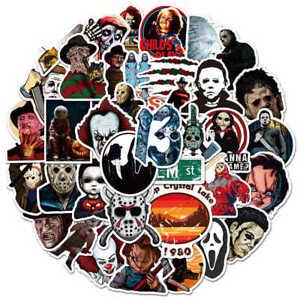 10pcs Scary Movie Stickers Horror Movies Film Jason X Halloween Mike Myers