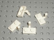 4 x Plaque plate avec crochet LEGO white Plate ref 4623 / 6598 10196 10214 6520