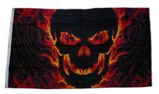 Fahne / Flagge Totenkopf Feuer Skull NEU 90 x 150 cm