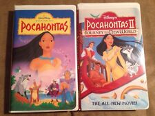 2 Disney Pocahontas VHS tapes - Journey to a New World