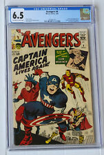 Avengers #4 CGC 6.5 OW/W  1st Silver Captain America!