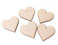 Wooden MDF Hearts Love Heart Shape Craft Shape Tags Embellishments  50mm