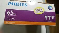 Philips 65W Equivalent  11w Soft White  Dimmable LED Indoor BR30 Flood  3 PK