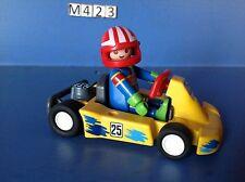 (M423) playmobil Kart jaune  ref 3013 année 98