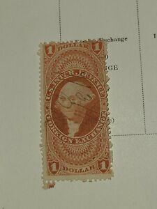 Scott #R68 US 1862 1 Dollar Revenue Foreign Exchange Stamp Beautiful Shape-#2953