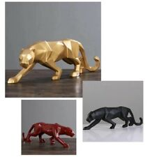 Leopard Resin Animal Crafts Ornaments Panther Sculpture Office Decoration Home