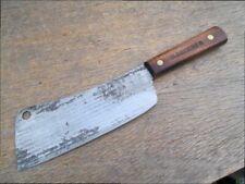 NICE VIntage OLD HICKORY Chef's Butcher's Carbon Steel Meat Cleaver Knife SHARP