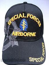 SPECIAL FORCES AIRBORNE / Hat Black Military100% Acrylic New Free Shipping