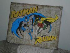 Batman & Robin Weathered Metal Sign by Disparate Enterprises 12½x16 inch 2011