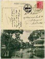 BURMA BOMBAY ADEN SEA POST OFFICE TPO on PPC 1909 WINGABA LAKES to SCOTLAND