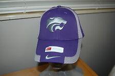 NEW Nike Swoosh Flex Fit Hat Kansas State Wildcats Purple Gray Powercat