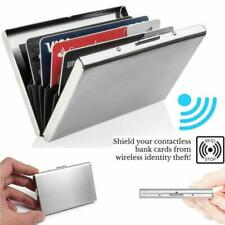 Aluminum Metal Anti-Scan Credit Card Holder RFID Blocking Pocket Wallet Case