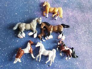 "Set 7-Empire Micro Mini 2"" Horses foal models, RETIRED 1990 Toys Grand Champion"
