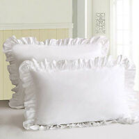 1Pcs Ruffled Pillow Shams Lace Cotton Pillowcases Home Pillow Cover Protector