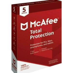 McAfee Total Protection 5 Device Full version 5 License Android, iOS, Mac OS