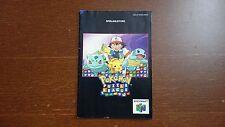 Pokemon Puzzle League instrucciones-n64-SNES, Nintendo, nes-Game Boy-Switch