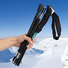 Pair(2PCS) Trekking Walking Hiking Sticks Poles Adjustable Anti-shock Folding US