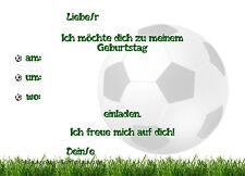 8 Einladungskarten Fußball Geburtstag Kinder Soccerhalle Einladungen Jungen