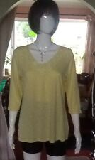 Yellow Top With Flower Detail Round The Neck From Per Una Size 14